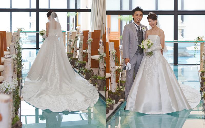 チャペル白ドレス2人