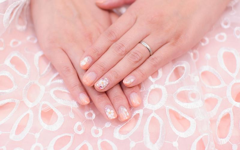 結婚指輪 ウェディングネイル